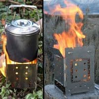 Folding Firebox Campfire Stove (Gen 2) - Brilliant camping wood stove - Loads of options available!